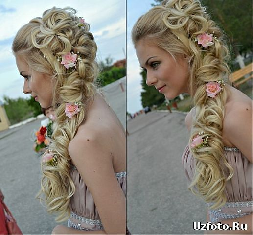 Фото причесок с накладными прядями волос